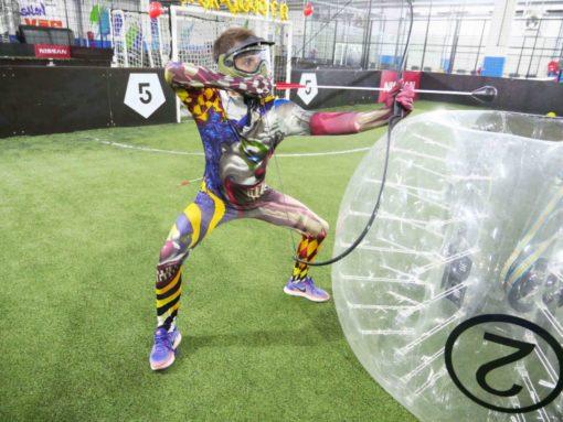 archery tag activité entre tir à l'arc et paintball