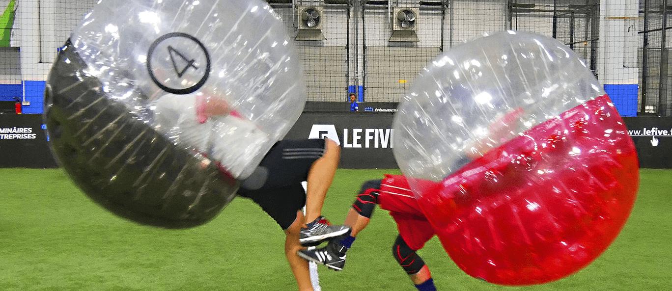 Bubble foot le five activité insolite