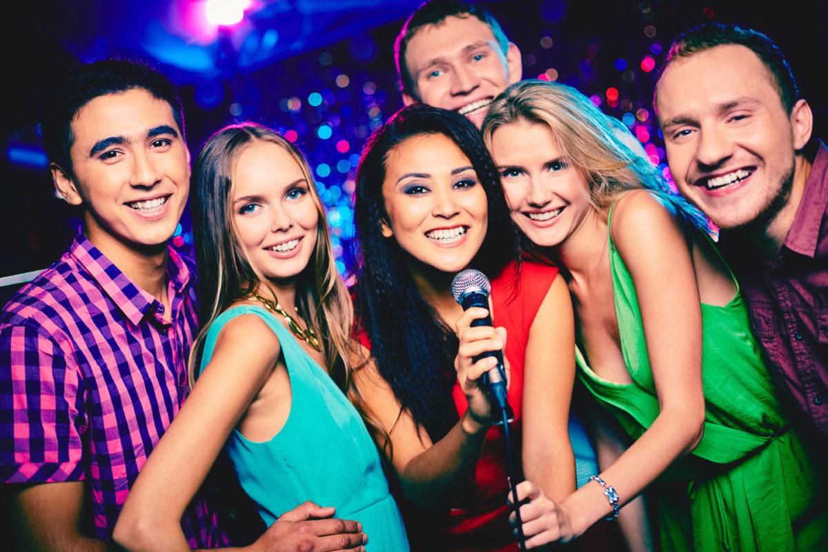karaoke bar ambiance